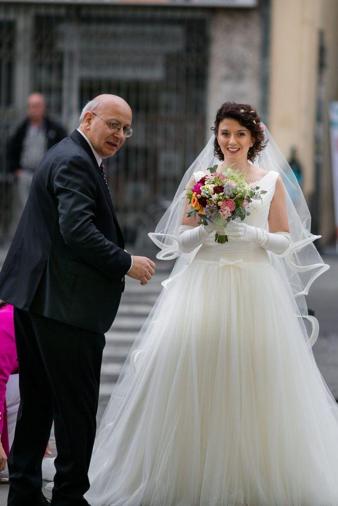 Bouquet della sposa molto colorato