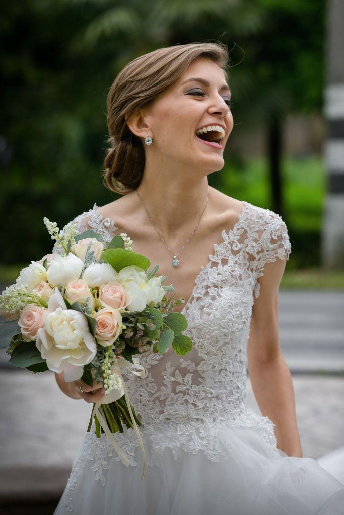 Bouquet della sposa colori pastello