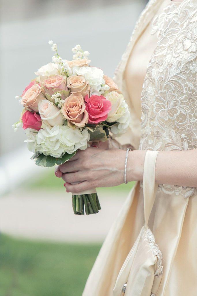 Bouquet della sposa tondo